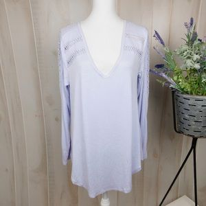 💐BOGO Deletta Lavender Lacey Long Sleeve Top